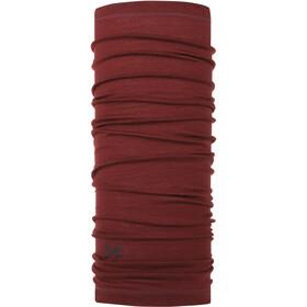 Buff Lightweight Merino Wool Neck Tube Solid Wine